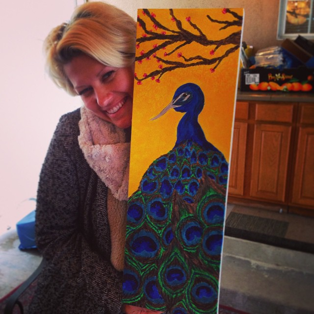 Kristina's beautiful peacock
