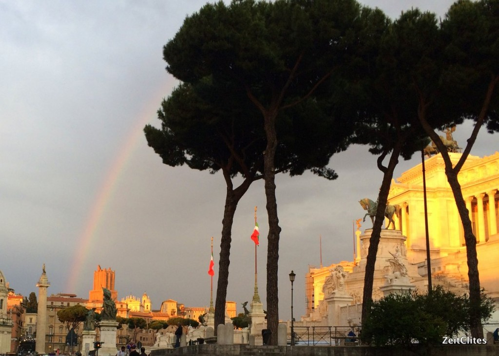 You guys! It's a rainbow! In ROME!