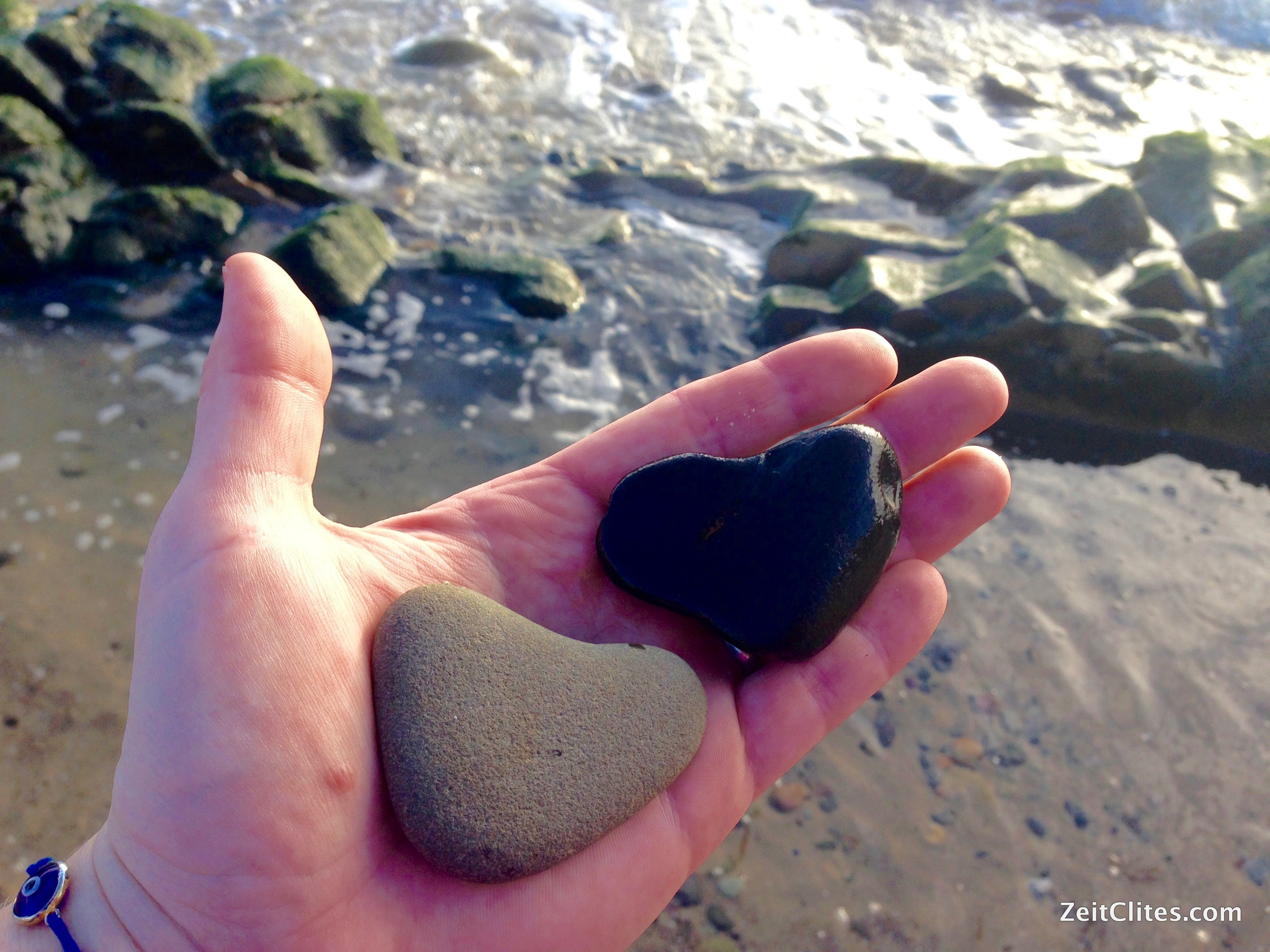 Hubs and I each collected (and saved) a heart-shaped rock.